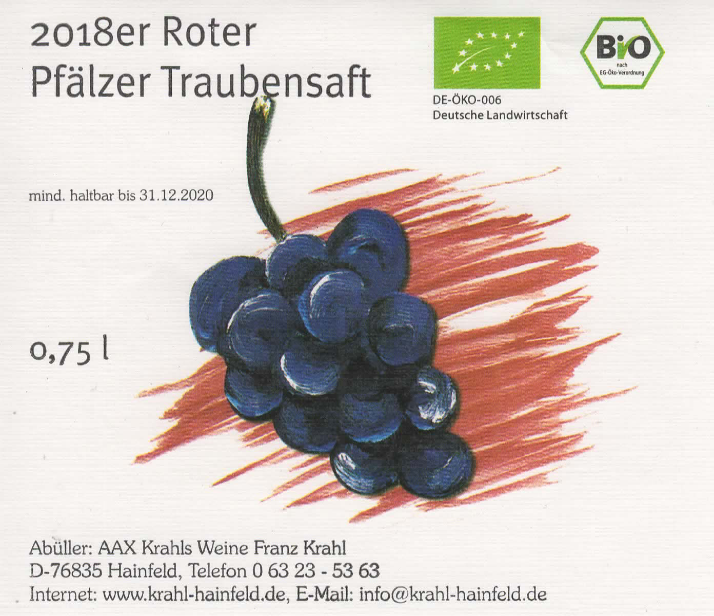 Roter Traubensaft